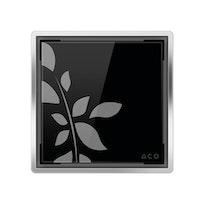 ACO E-point Design-Abdeckung Glas schwarz mit Motiv
