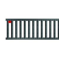 ACO Self® Stegrost Stahl verzinkt anthrazit pulverbeschichtet