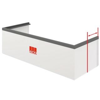 ACO Therm® Aufstockelement (h= 3-30 cm) Komplett-Set für Lichtschacht - Tiefe 40 / 60 cm