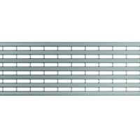 ACO Self® Längsprofilrost stahl verzinkt für Profiline Holzterrassenrinne
