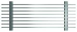 ACO Profiline Längsstabrost 3 x 15 mm, Stahl verzinkt, Baubreite 155 mm