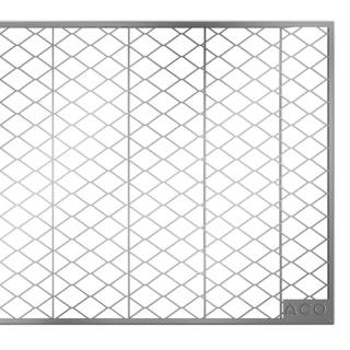 ACO Therm® Lichtschacht Abdeckrost begehbar 80 x 50 cm