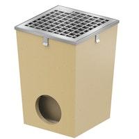 ACO Self® Hofablauf mit verzinkter Aufsteckzarge und Rost - Höhe 35,5 cm