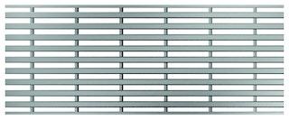 ACO Profiline Heelsafe grob Edelstahl für Baubreite 100 mm