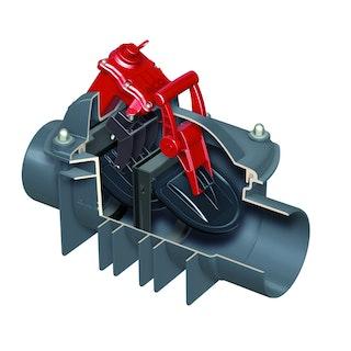 ACO Quatrix-K - Fäkalienrückstauautomat für freiliegende Rohrleitung