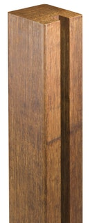 aMbooo Zaunsystem Deluxe Bambus Abschlusspfosten
