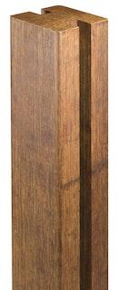 aMbooo Zaunsystem Deluxe Bambus Anschlusspfosten