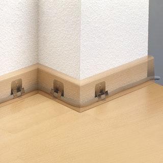 DECOLIFEcomfort Zubehör für Steckfußleiste Befestigungsclip