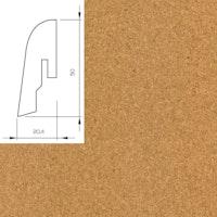 WICANDERS Steckfußleiste Kork fein 2400x50x20 mm