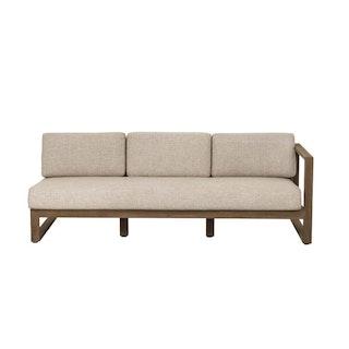 apple bee Sofa links 192,5 ANTIGUA lounge - Gestell Teak coastal - Bezug BEE WETT Natural Oak