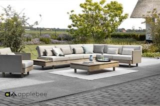 apple bee Lounge Set MODULE X coastal  inkl. Lounge Sessel und Tisch