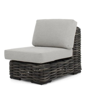 apple bee Lounge Erweiterung Mittelement 66 ELEMENTS XL Geflecht Black wash-BEE WETT Pebble Grey
