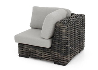 apple bee Lounge Erweiterung Eckteil 100 ELEMENTS XL Geflecht Black wash-BEE WETT Pebble Grey