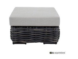 apple bee Hocker ELEMENTS XL Geflecht Black wash-BEE WETT Pebble Grey