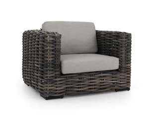 apple bee Loungesessel 114 ELEMENTS XL Geflecht Black wash-BEE WETT Pebble Grey