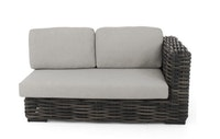 apple bee Lounge Sofa links 160 ELEMENTS XL Geflecht Black wash-BEE WETT Pebble Grey