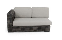 apple bee Lounge Sofa rechts 160 ELEMENTS XL Geflecht Black wash-BEE WETT Pebble Grey