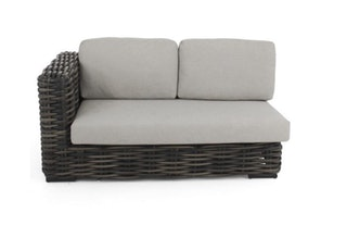 apple bee Lounge Sofa rechts 160 ELEMENTS XL Geflecht Black wash-BEE WETT Pebble Grey