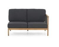 apple bee Lounge Sofa links 134 LA CROIX Teak Natural/Rope Schwarz/BEE WETT Schwarz