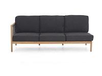 apple bee Lounge Sofa rechts 199 LA CROIX Teak Natural/Rope Schwƒarz/BEE WETT Schwarz