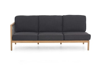 apple bee Lounge Sofa rechts 199 LA CROIX Teak Natural/Rope Schwƒarz/BEE WETT Schwarz