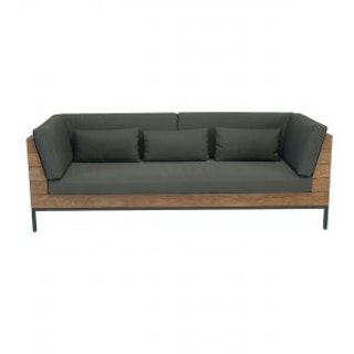 apple bee Lounge Sofa 219 LONG ISLAND Teak Antique/Gestell Aluminium anthrazit/BEE WETT Pavement