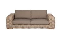 apple bee Lounge Sofa 220 FFF Geflecht Silk-BEE WETT Taupe
