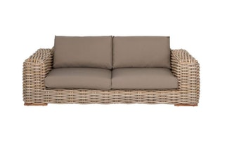 apple bee Lounge Sofa 220 FFF Geflecht Silk-BEE WETT Taupe