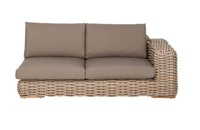 apple bee Lounge Sofa links 200 FFF Geflecht Silk-BEE WETT Taupe