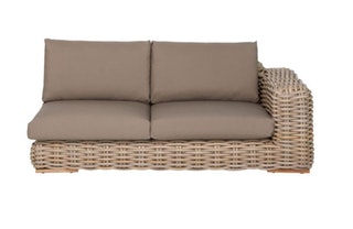 apple bee Lounge Sofa links 200 FFF Geflecht Silk-BEE WETT Taupe