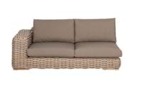 apple bee Lounge Sofa rechts 200 FFF Geflecht Silk-BEE WETT Taupe