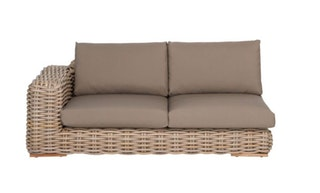 apple bee Lounge Sofa rechts 200 FFF Geflecht Silk-BEE WETT Taupe