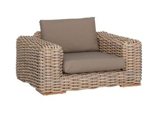 apple bee Loungesessel 145 FFF Geflecht Silk-BEE WETT Taupe
