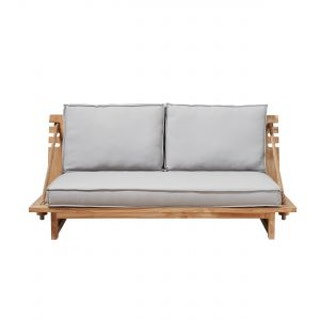 apple bee Sofa ROBINSON 190 aus Teak inkl. BEE WETT Polster in Grizzle