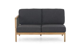 apple bee Lounge Sofa rechts 134 LA CROIX Teak Natural/Rope Schwarz/BEE WETT Schwarz