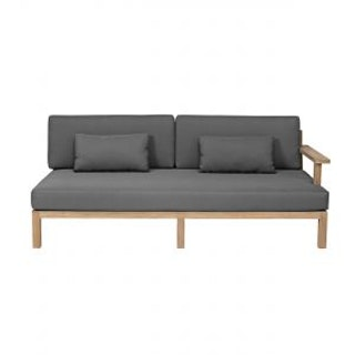 apple bee Loungesofa rechts XXL-Factor 190 Gestell in Teak antik / Kissen in BEE WETT Pavement