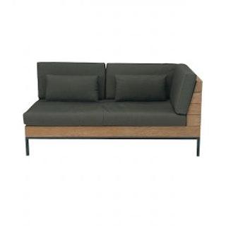 apple bee Lounge Sofa links 161 LONG ISLAND Teak Antique/Gestell Aluminium anthrazit/BEE WETT Pavement
