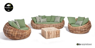 Applebee Loungegruppe Cocoon Set 1 x Sofa 2 x Sessel + Lounge Kaffetisch