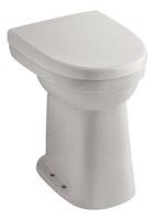 Sanitop Stand-WC-Set Universal +10 cm, Flachspüler senkrecht, weiß