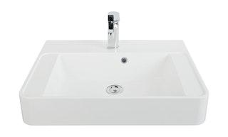 Sanitop Aufsatz-Waschtisch CuOra 60 cm Mineralguss, weiß