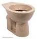Sanitop Stand-WC, Tiefspüler waagerecht, beige