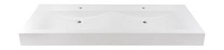 Sanitop Doppel- Waschtisch Plan 151 cm, weiß