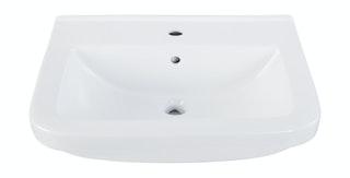 Sanitop Waschtisch Quadra 45 cm, weiß mit Clean-Glasur