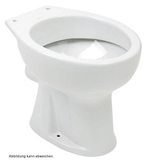 Sanitop Stand-WC, Flachspüler waagerecht, weiß