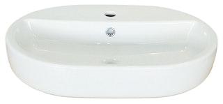 Sanitop Aufsatz-Waschtisch uVio 60 cm, weiß