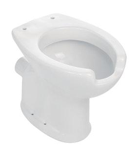 Sanitop Stand-WC Komfort, Tiefspüler waagerecht, weiß