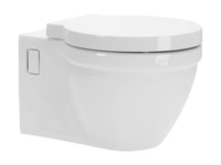 Sanitop Wand-WC-Set naU, Tiefspüler, weiß