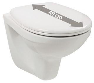 Sanitop Wand-WC-Set laPino Mini, Tiefspüler, weiß