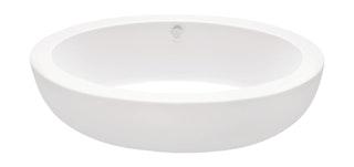 Freistehende Design Acryl-Badewanne Melodia 186 x 89 cm weiß