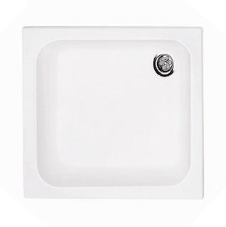Acryl-Duschwannenset 80 x 80 x 6,5 cm weiß